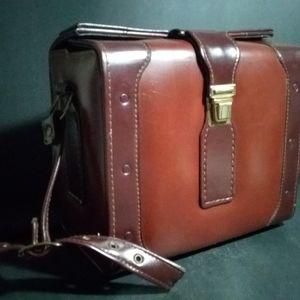 Handbags - Diamond Faux Leather Brown Shoulder Bag